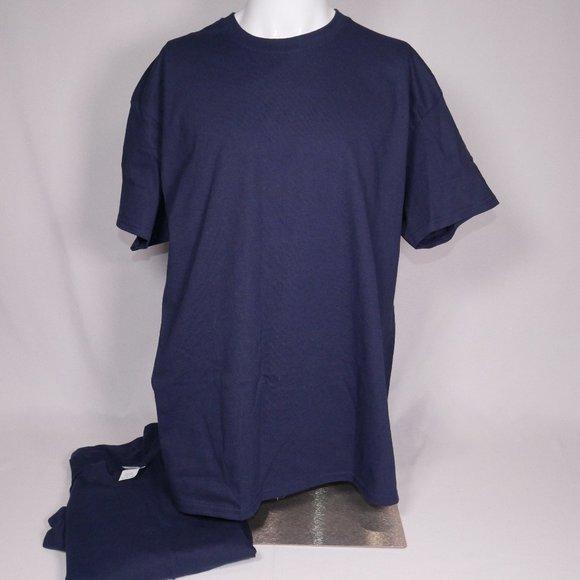 3/$25 Gildan Ultra Cotton T-Shirts Blue XL Set 2
